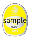 Yellow Helmet Stickers - per sheet of 10