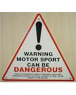 'Motorsport Can be Dangerous' Warning Signs pack of 5
